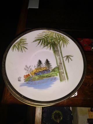 6 platos porcelana japones fina hayasi