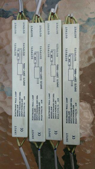 Reactancia electronica fluorescente 36W