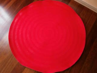 Alfombra circular color rojo