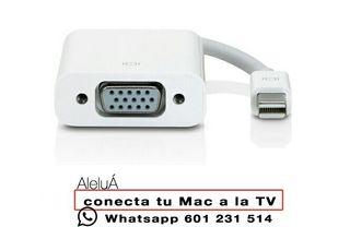 Conecta tu Mac a la TV o pantalla externa VGA