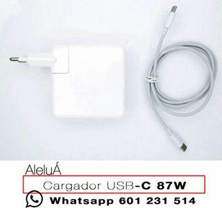 "Cargador 87w tipo C para Macbook Pro Retina 15"""