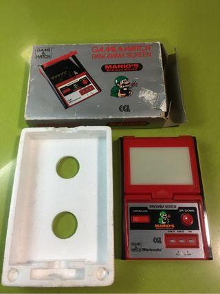 Game watch Mario Bombs,Nintendo,años 80,egb,casio,Xbox,ps,msx,bandai,spectrum,