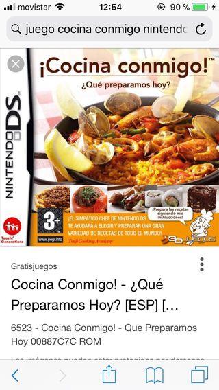 Cocina Conmigo Nintendo DS; Cocina Conmigo Nintendo DS