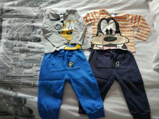 Pack 2 conjuntos Disney niño 80 cm