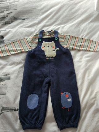 Peto y camiseta Tuc-Tuc niño 1 año