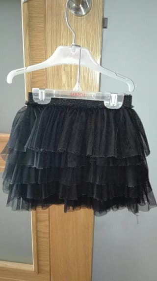 Niña Falda Volantes De Años Zara 7 Negra Tul ttw4O7xq