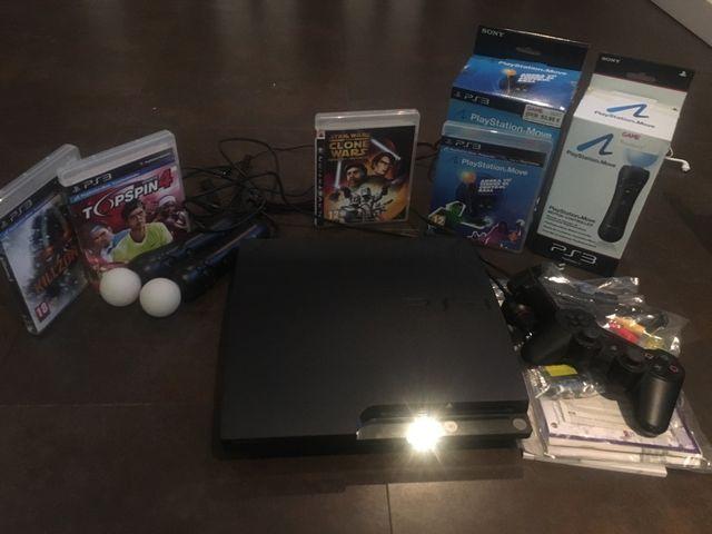 Consola ps3 + juegos y accesorios