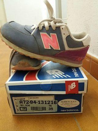new balance niñas zapatillas 35
