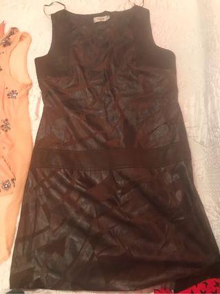Vestido cuero fino talla40