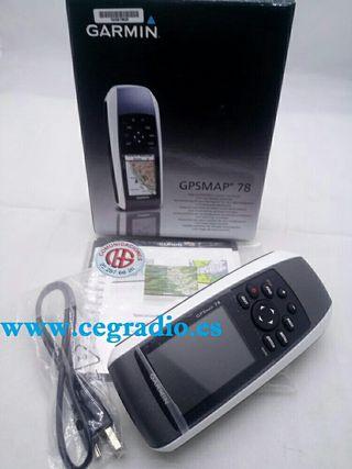 GPS GARMIN GPSMAP 78 IPX7 WATERPROOF