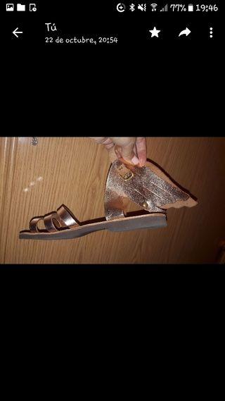 sandalias griegas originales, de piel. talla 38