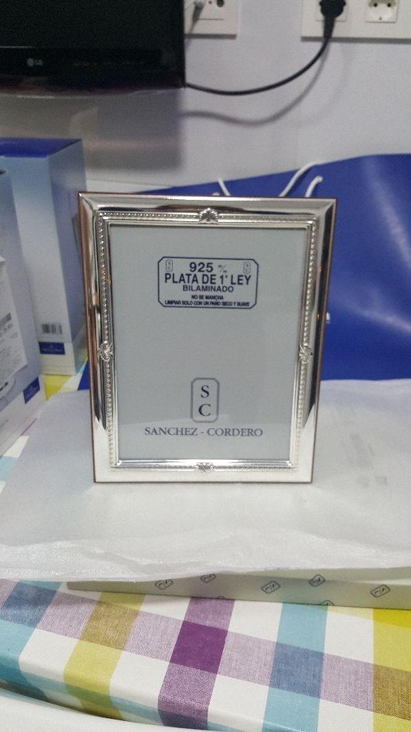 Marco de fotos de plata de marca Sanchez - Cordero de segunda mano ...