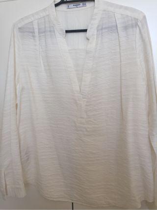 Blusa mango blanco roto