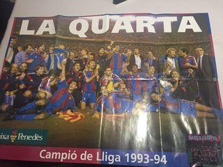 Poster 4 liga Barça