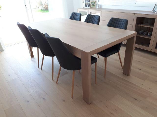 Mesa comedor estilo nórdico roble macizo 8-10per de segunda mano por ...