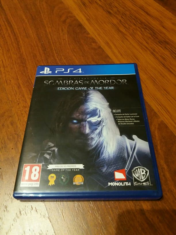Sombras de Mordor PS4 GOTY game of the year