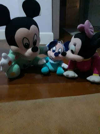 peluches de micky y minnie