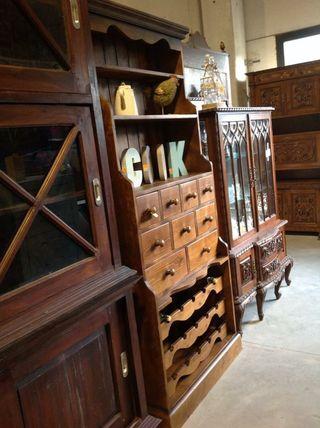 Botellero madera maciza