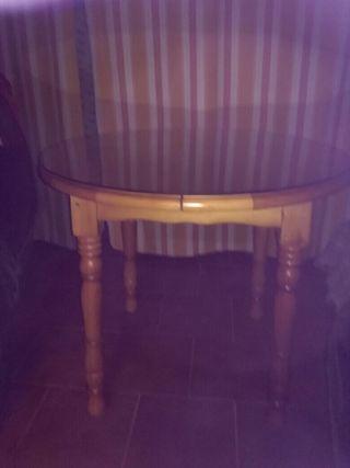 Mesa camilla de madera maciza
