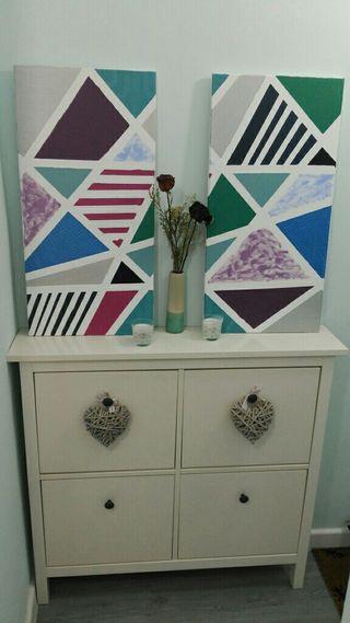 Cuadro geométrico decoración