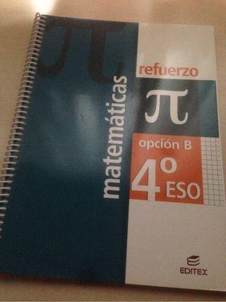 Refuerzo matemáticas 4 eso. Editex.