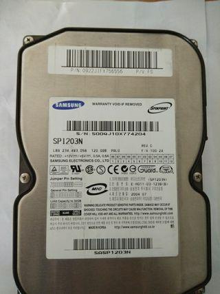 Disco duro samsung 120gb ide 3.5