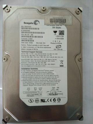 Disco duro seagate 200gb sata 3.5