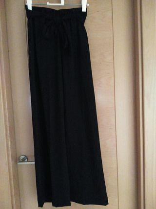 Pantalon pata de elefante, talla34,Blanco