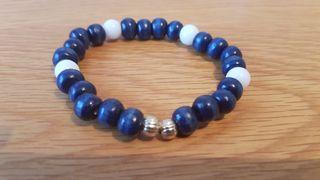 Unisex Blue and white bracelet