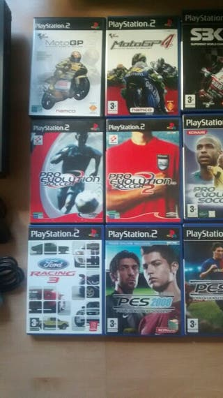 Playstation 2 + juegos + memory cards