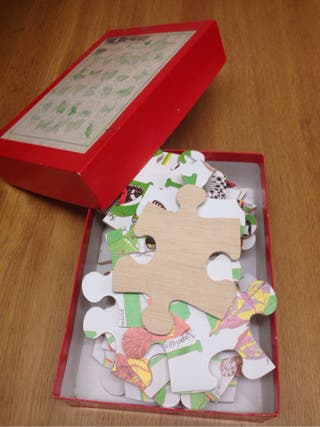 christmas wood butterfly puzzl