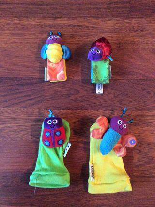 LAMAZE Juguete Sonajero muñeca calcetines SIN USO