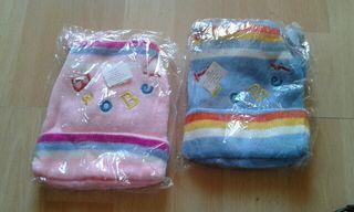 gorritos con bufanda para bebé y 3 meses hasta un