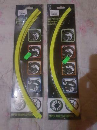 super adhesivo fluorescente para ruedas