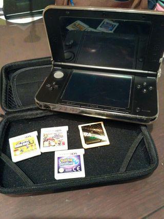 Nintendo 3DS XL+juegos+ funda + bolsa de transport