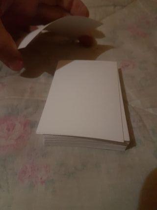 49 tarjetas en blanco