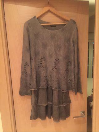 Vestido gris marca italiana