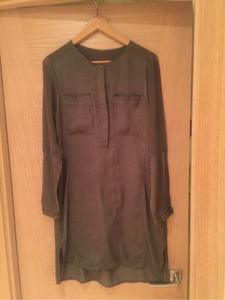 Tunica/vestido verde militar