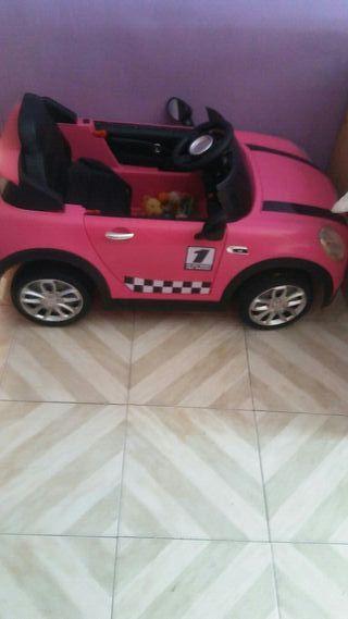 coche electrico de niña nimirn rosa con mp