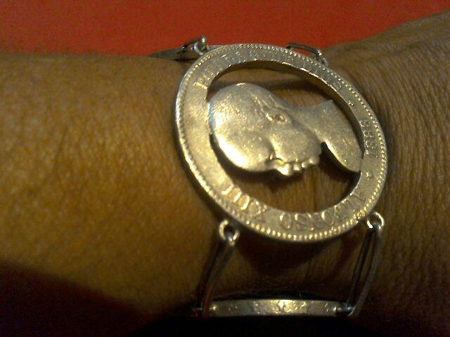 edca4713af64 Pulsera antigua de monedas de plata de 5 pesetas de segunda mano por ...