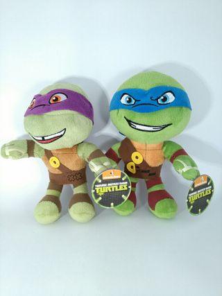 Lote 2 peluches Tortugas Ninja