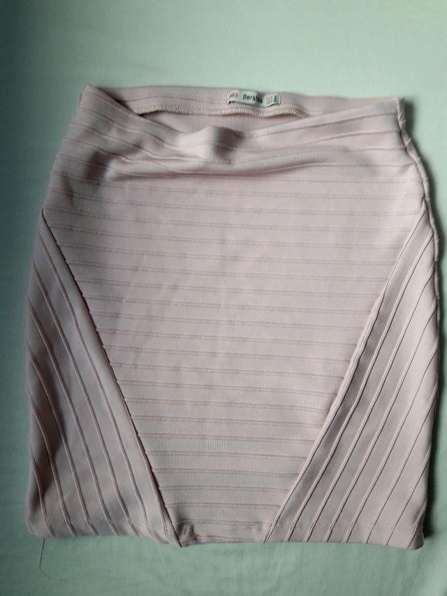 Falda rosa palo talla 34