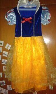 vestido Blancanieves talla de 3 hasta 5