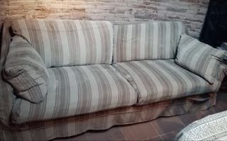 Sofá tela con funda