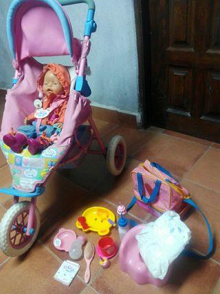 muñeca baby born y silla