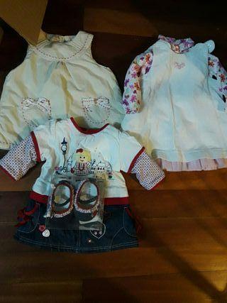 lote de vestidos de invierno talla 0-1 meses .