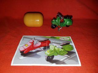 Figura Kinder Sorpresa Moto Verde