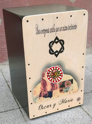 Cajón flamenco foto personalizada