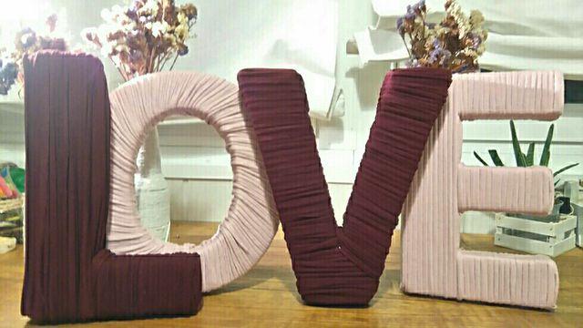 LOVE letras decoracion boda centro mesa
