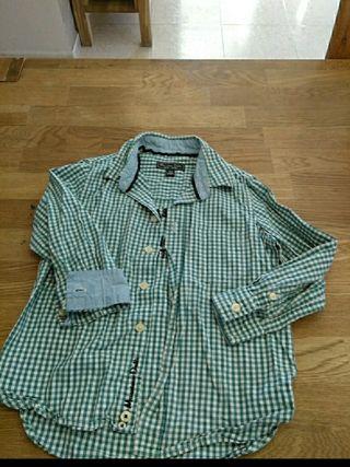 camisa tala 3/4 massimo dutti